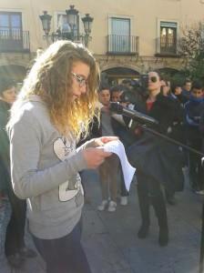 Tania Casado (3º A) en la Plaza de las Palomas