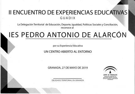 II Encuentro de Experiencias Educativas de Guadix.