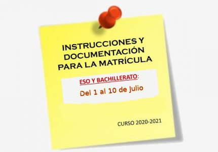 Documentación para formalizar la matrícula